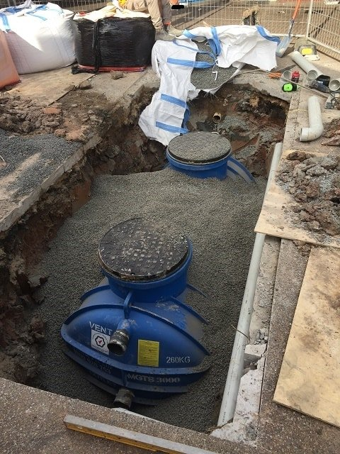 Above Ground Grease Trap Commercial Kitchen Installation