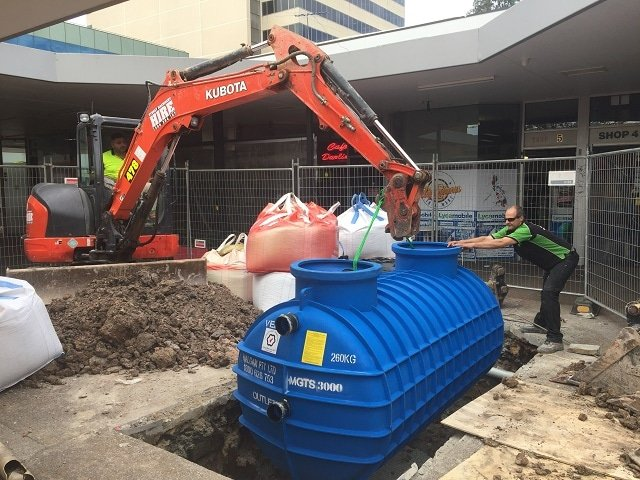 3000 Litre Inground Grease Trap Installation Upgrade from a 1000 lt Grease Trap