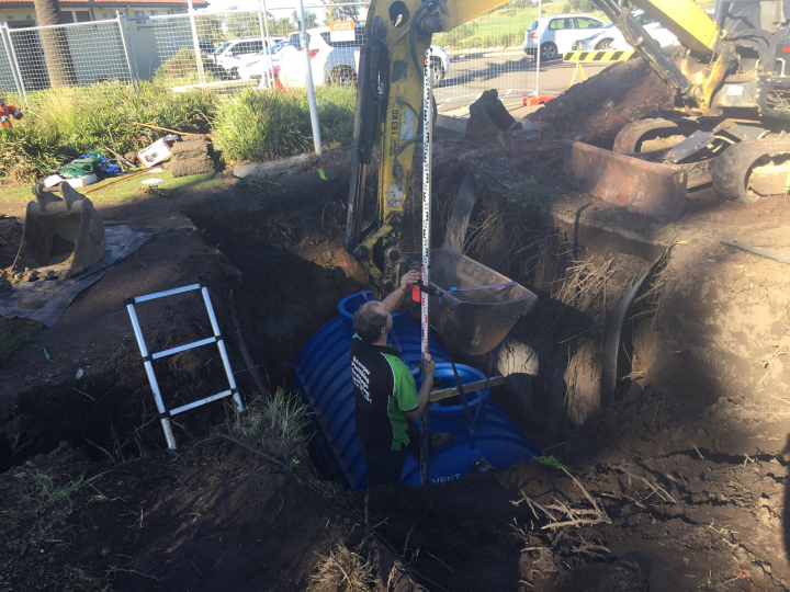 Long Reef Golf Club Grease Trap Installation 8